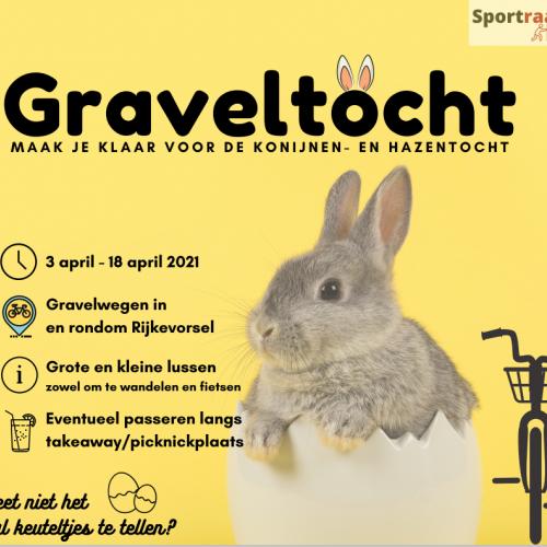 Poster Konijnen- en Hazentocht © Beheerraad Sportraad Rijkevorsel