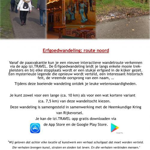 Flyer Erfgoedwandeling © Lokaal bestuur Rijkevorsel