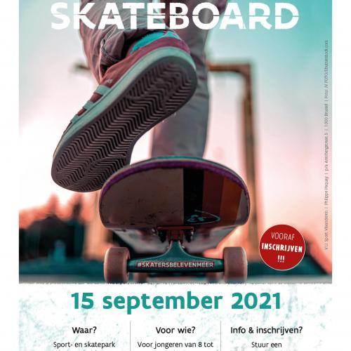 Poster Start to skateboard © Sport Vlaanderen